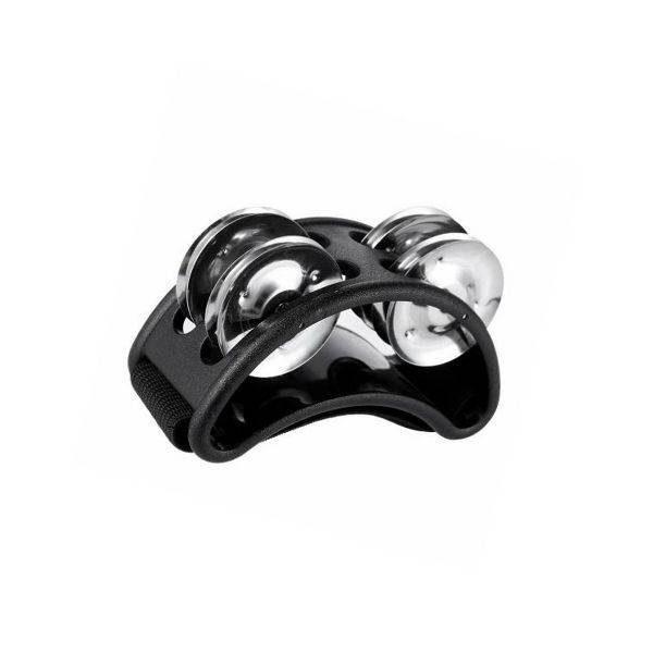 Lábcsörgő Foot tambourine fekete